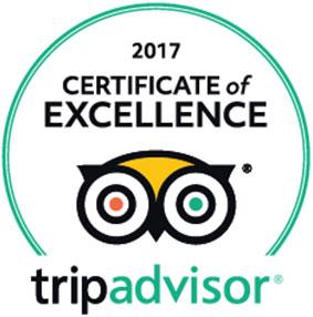 Nous avons le TripAdvisor certificat d'excellence !