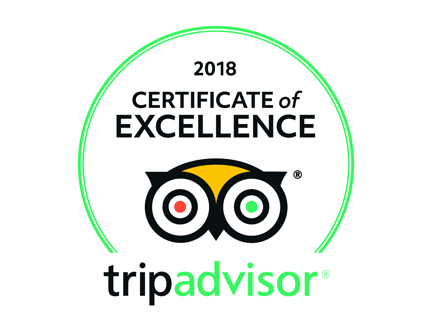 We are a tripadvisor centre of excellence!