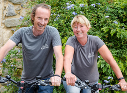 hire your bikes from Geoff and Tessa